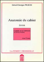 Anatomie du cahier - book cover